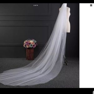 White Cathedral Length Veil